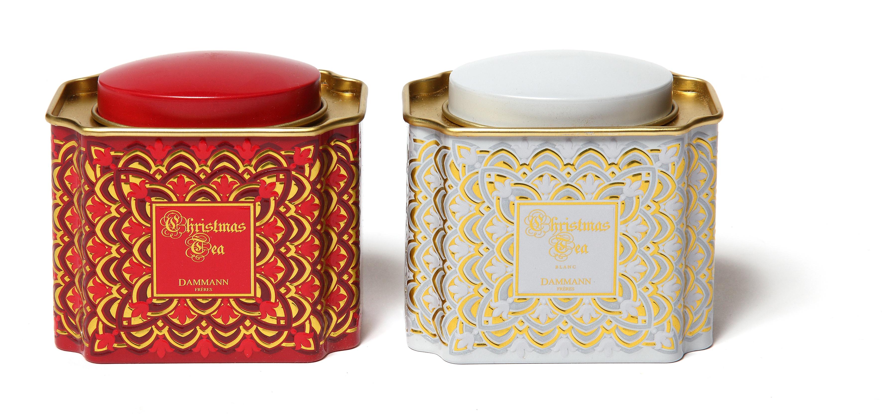 Mariage frères  Thé blanc, thé vert, thé rouge (roobois), thé noir esprit  de Noël aux « épices douces de Noël », écorces d\u0027orange et morceaux de  vanille