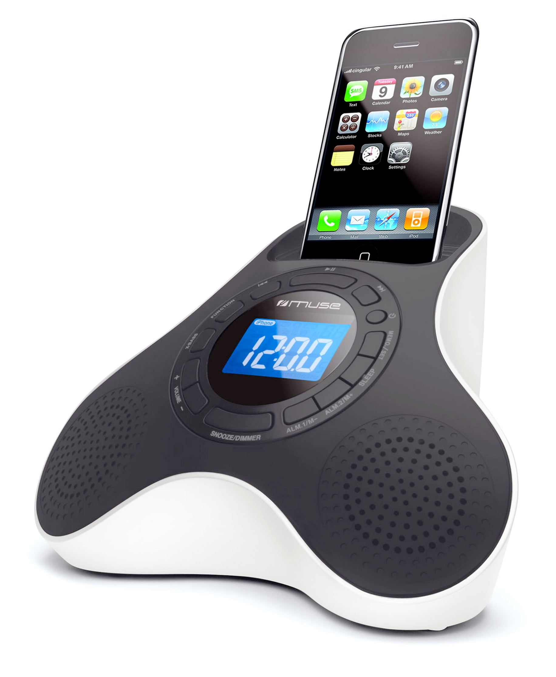 muse m 105 station d 39 accueil pour ipod et iphone radio. Black Bedroom Furniture Sets. Home Design Ideas