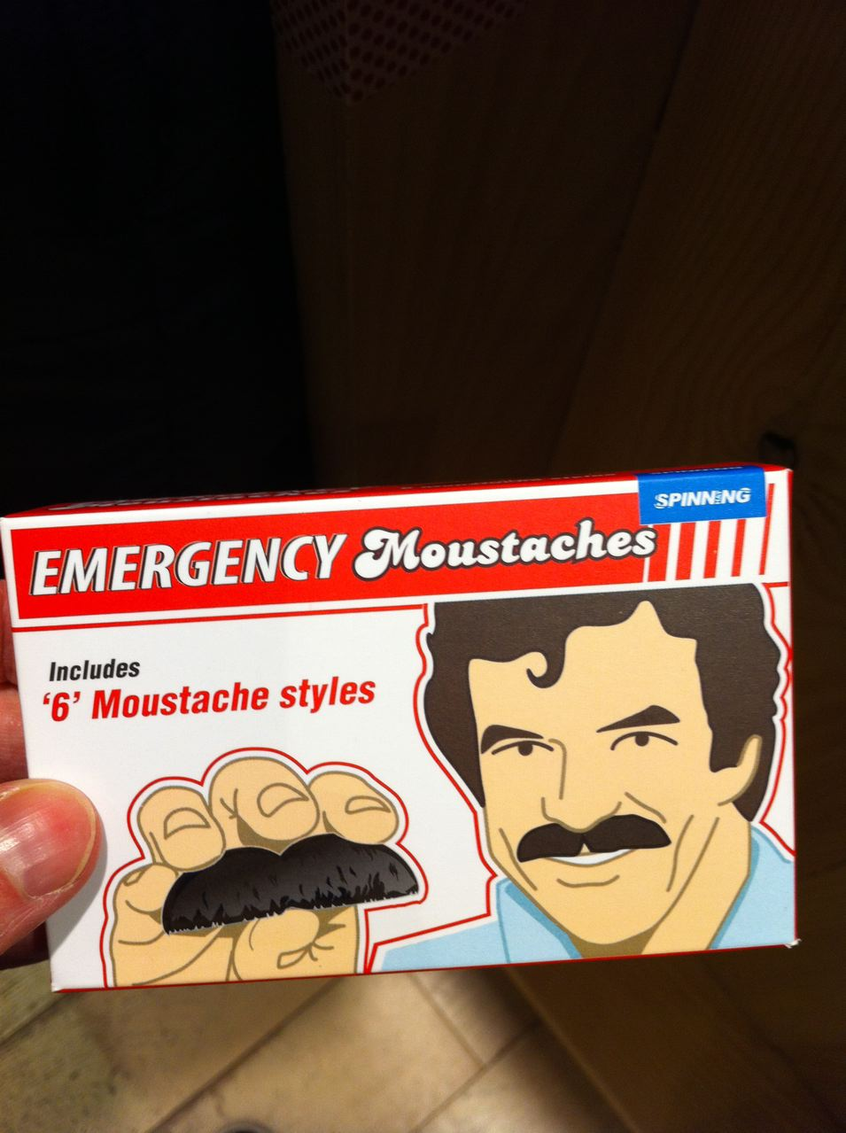 emergency moustache