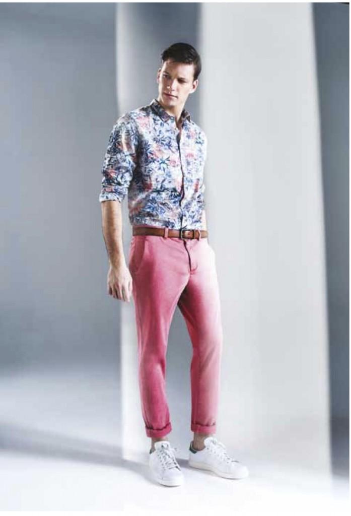 pantalon homme rose One step