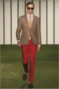 pantalon homme rouge Hackett