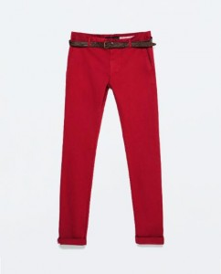 pantalon rouge Zara