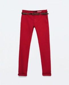 pantalon rouge Zara