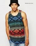 New Look - Débardeur à imprimé aztèque - Multicolore