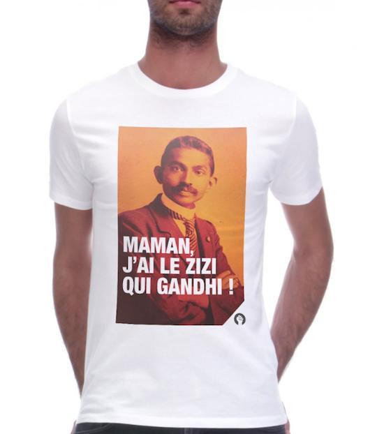 monsieur t-shirt fist et lettres Ghandi