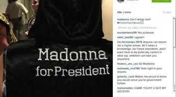 Photo publiée par Madonna sur son compte Instagram en septembre 2015