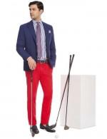 boggi pantalon rouge