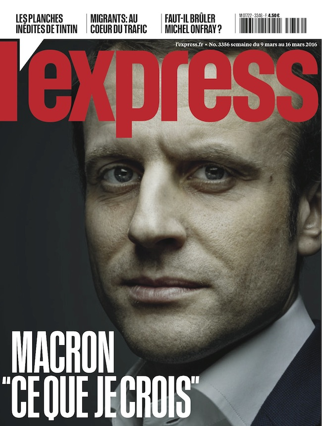 L'Express couverture MACRON