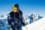 blouson de ski Protest bleu camouflage