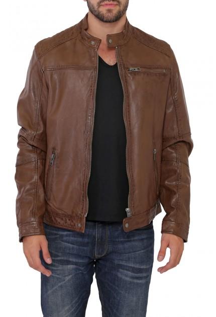 Veste en cuir pour homme de la marque Oakwood