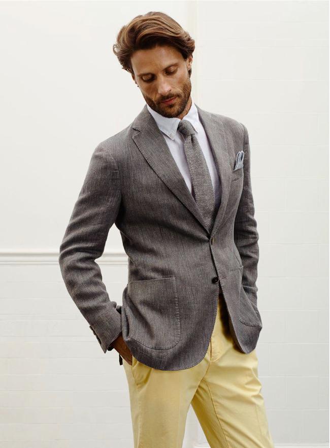 Pantalon Hackett jaune clair