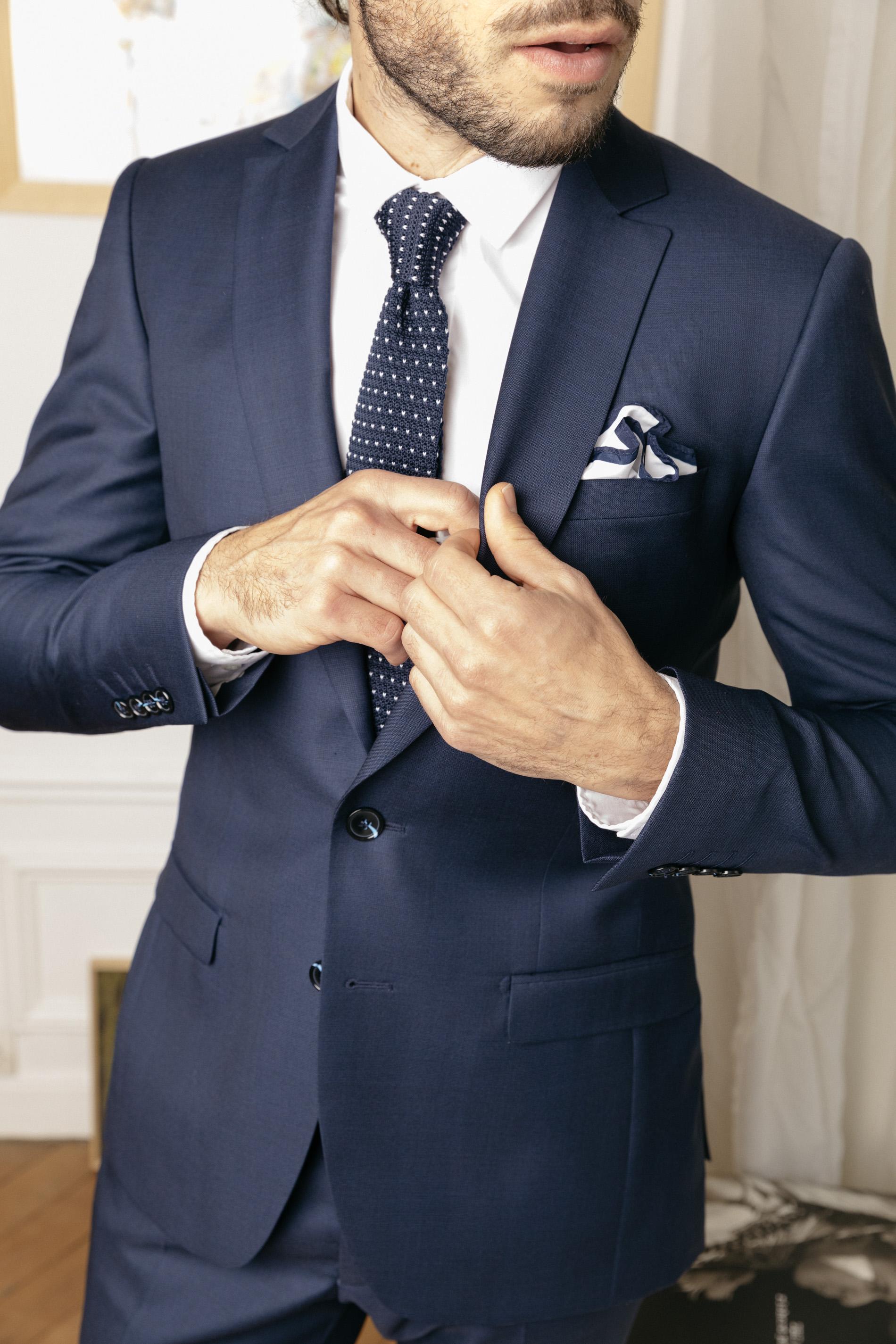 costume sur mesure theo zoom motifs prince de galles en serge de laine le blog mode de l. Black Bedroom Furniture Sets. Home Design Ideas