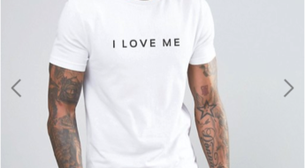 ASOS Muscle T-Shirt With I Love Me Print