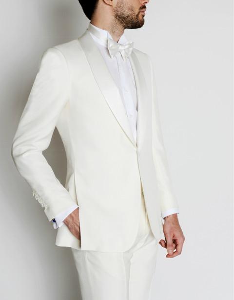 costume de marié blanc Smalto