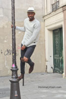 street style sweater chiné