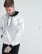 ASOS hoodie métallisé