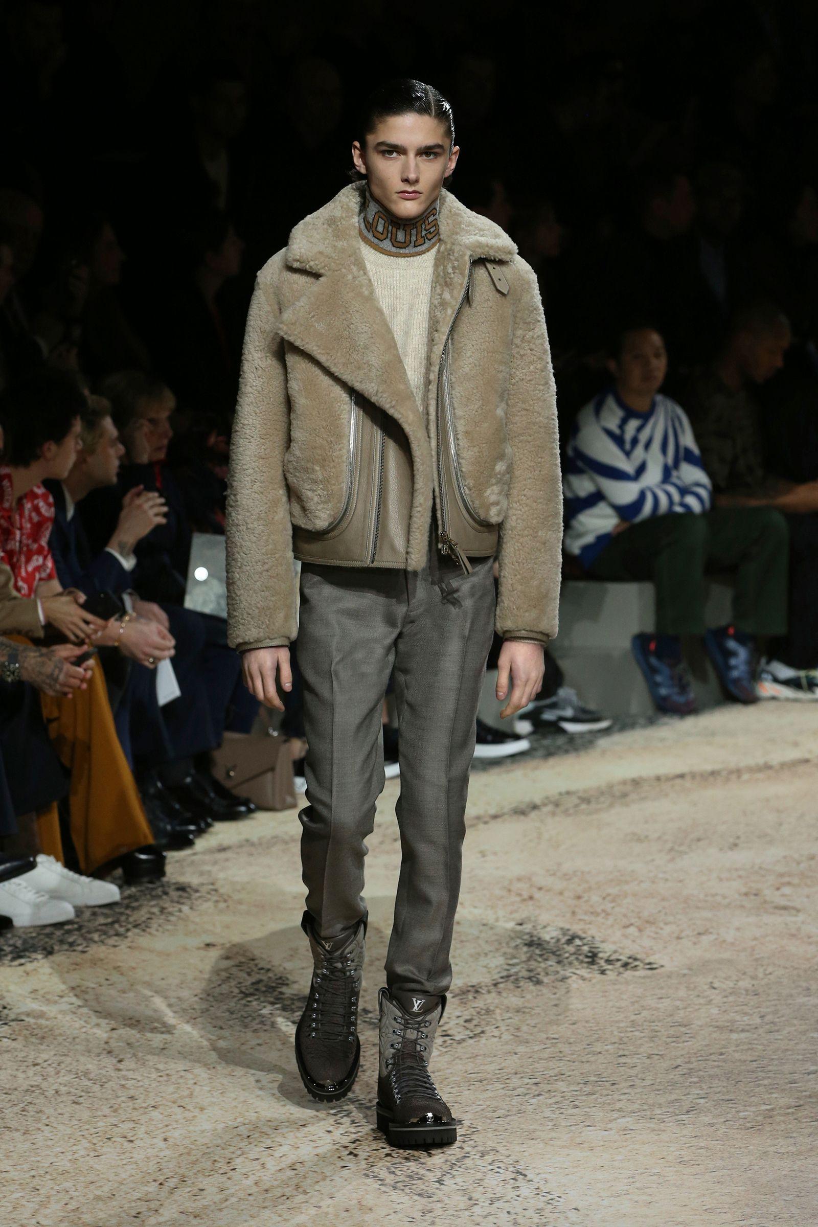 blouson peau lainée Louis Vuitton