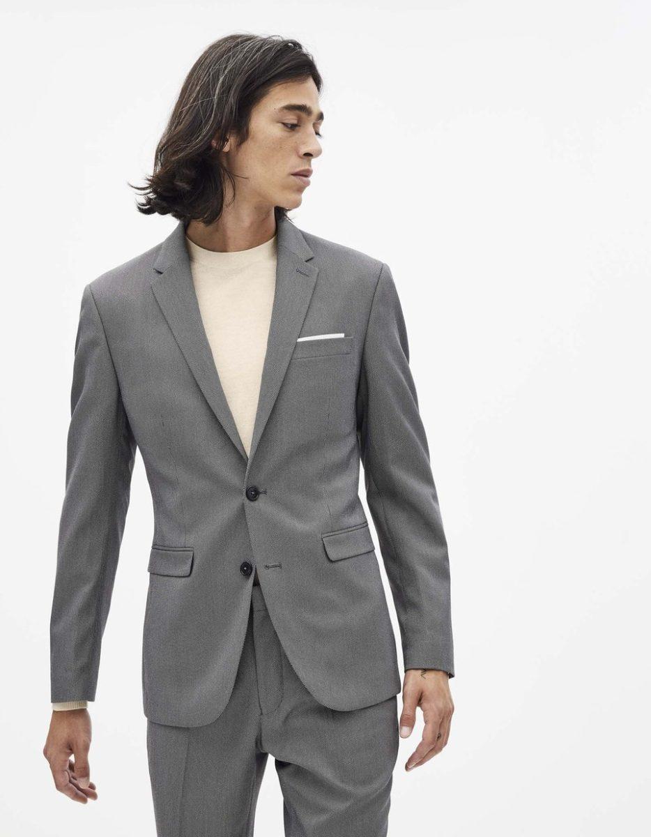costume gris hiver 2021