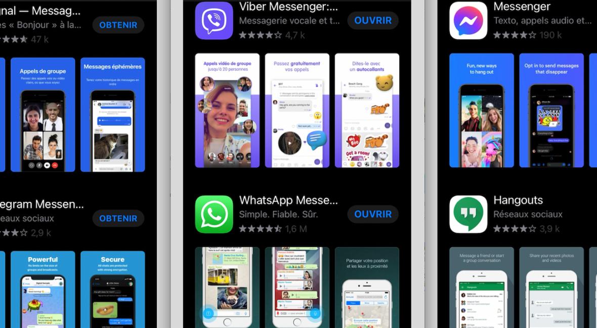 messageries instantanées