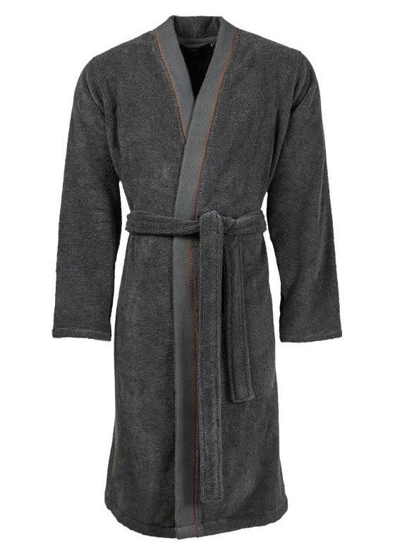Peignoir homme kimono avec bande jacquard