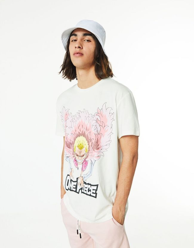 tee-shirt homme été 2021 Bershka One Piece