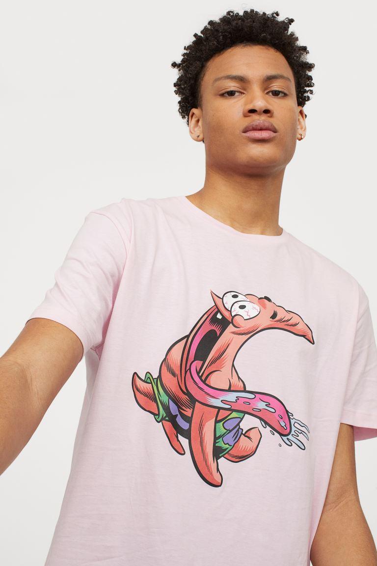 t-shirt homme H&M Bob l'éponge