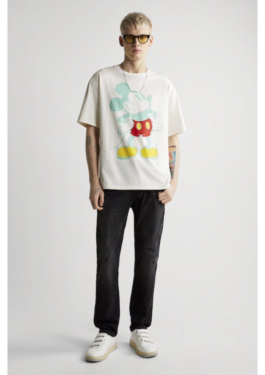 t-shirt homme Zara Mickey