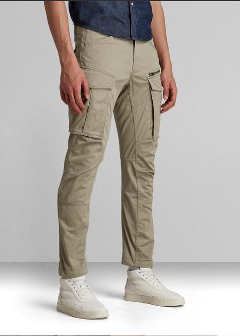 pantalon cargo kaki clair