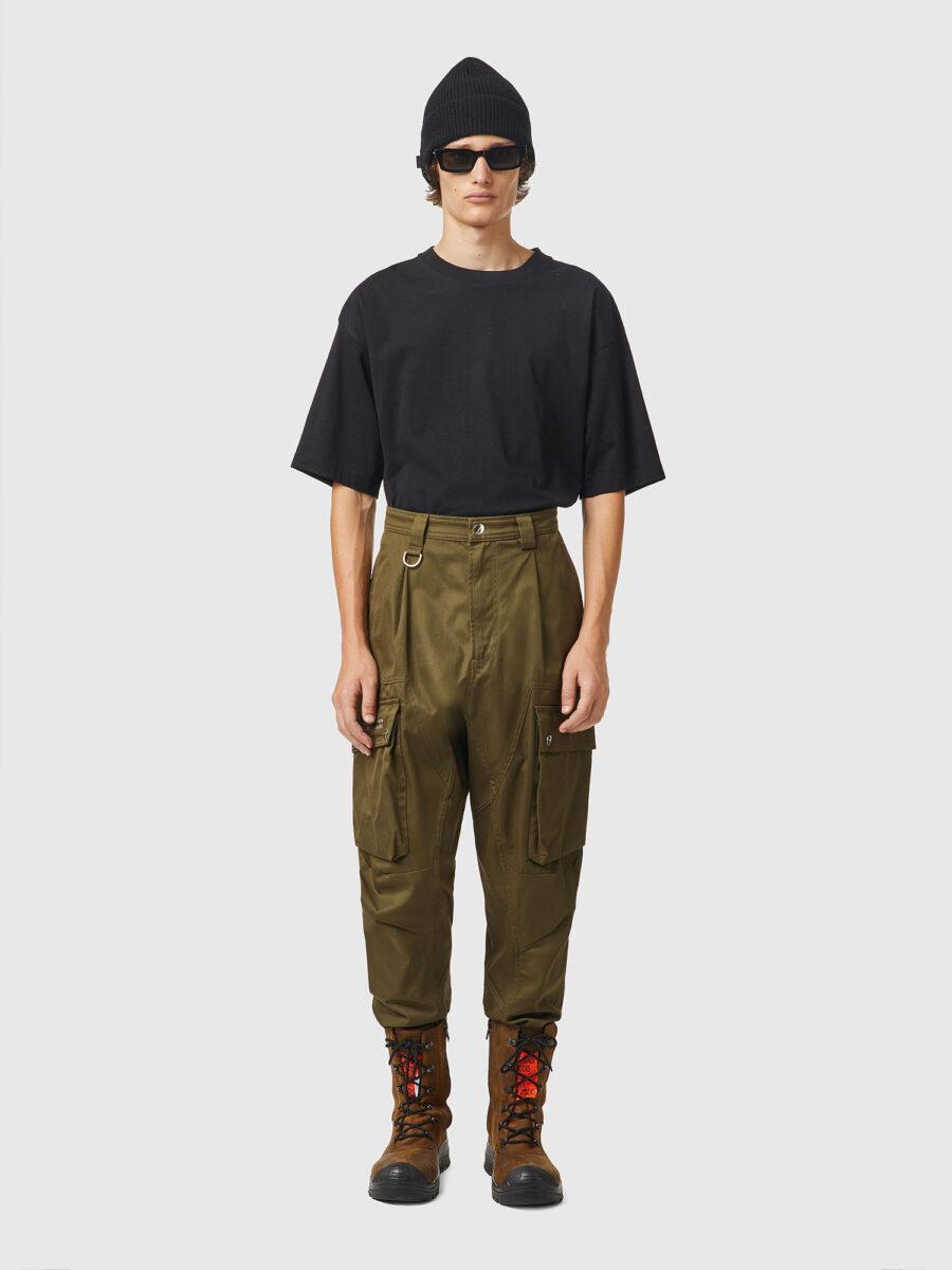 diesel pantalon cargo kaki